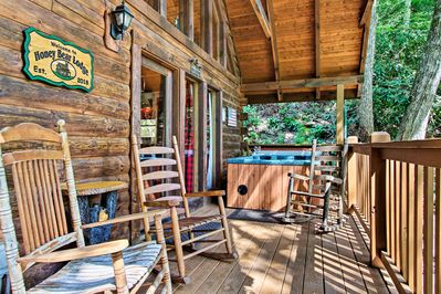 Escape to the Smoky Mountains at this rustic Gatlinburg vacation rental!
