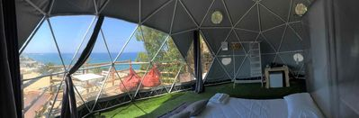 Photo for Eremo di Montevergine : Seaview Dome, suspended between sky and sea