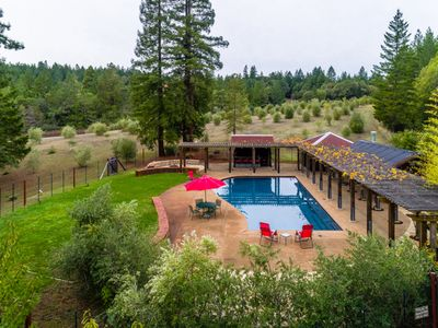 Photo for Anderson Valley Ranch: Redwoods, Views, Pool, Spa, Vineyards