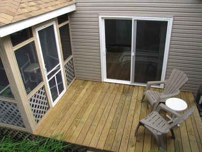 Front deck off of Screened Porch and Bedroom