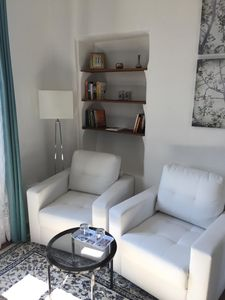 The white bedroom - seating area in the bedroom