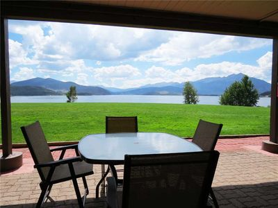 Photo for On Lake Dillon- Ground Floor. Mountain, Lake Views. Patio, Gas Fireplace, Hot Tub, Near Amphitheater