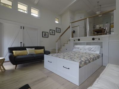 Bed recesses to open up living space!