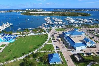 Atlantic Ocean, Peanut Island 80 acre park & our neighborhood marina.