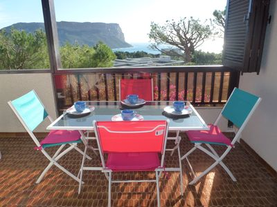 Photo for CASSIS-BEAUTIFUL APARTMENT SEA VIEW IN RESIDENCE WITH POOL AND TENNIS - 4 Pers to6