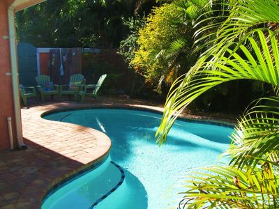 Photo for PRIVATE pool.  Just for you!  Early morn, post beach, or under the stars!
