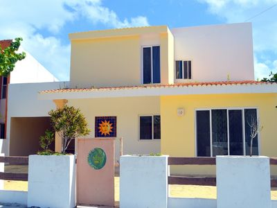 Photo for Sol y Luna house. 3 bedrooms, half block from the beach