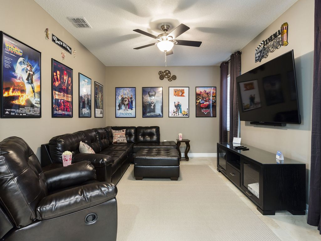 New 6 Bed Villa Furnished June 2016 with Private Pool, Theater and Game Room