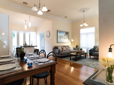 Photo for Charming, Bright Cottage in East Prahran
