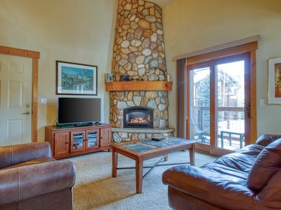 Photo for Spacious two-story condo w/ a shared hot tub, furnished balcony, & gas fireplace