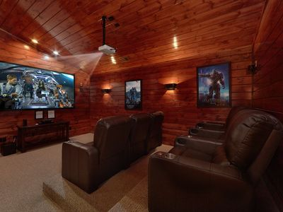 Photo for 5 Bedroom Gatlinburg Cabin Rental with Home Theater Room
