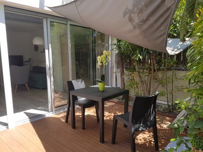 Photo for Beautiful renovated T2 300m from the sea, air-conditioned, with south facing terrace quiet.