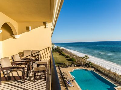 Photo for Spacious Luxury Gulf Front Condo with Private Balcony! Sports TV Package!