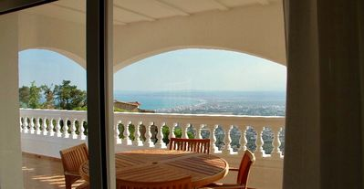 Photo for Modern detached villa set in private grounds. Stunning sea and mountain views .