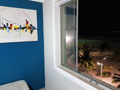 Photo for Beachfront Apartment in Guilhermina in Praia Grande beautiful sea view