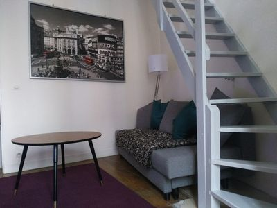 Photo for Cozy duplex apartment minutes away from the metro!