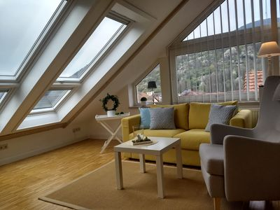 Photo for Above the roofs of Annweiler! Light-flooded attic studio for 2 persons
