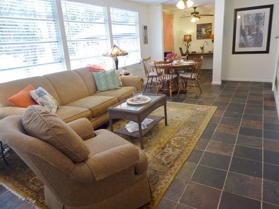 Royal Palm Suite - large living/dining/tv room