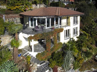 Photo for Luxury villa on beautiful location with stunning views over Lake Maggiore