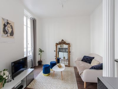 Photo for Elegant and calm flat with balcony nearby the Gold Square in Nice - Welkeys