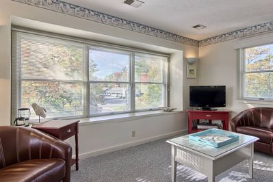 Large windows let in ample light