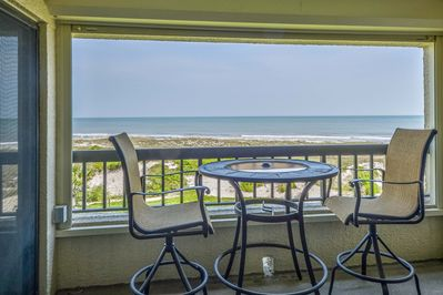 Enjoy magnificent views of the Atlantic from our balcony, which seats 4.