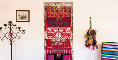 You will find Mexican folk art throughout the home
