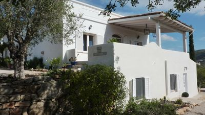 Photo for Private country villa with pool and stunning sea views, free Wi-Fi, AC