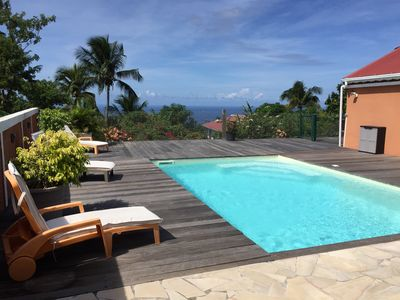 Photo for Creole villa sea view with pool, 4 bedrooms has boiling