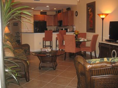 Photo for Beautiful/luxurious 2 Bedroom, 2 Bath Condo, Pool, Spa, close to Golf Courses.