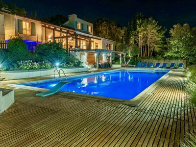 Photo for luxurious and Exceptionally Private Estate with Tennis and large Heated Pool