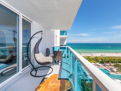 Photo for **Stunning! 5*-1BR- Oceanfront-Spacious-South-Beach-Hotel Owner Suite**