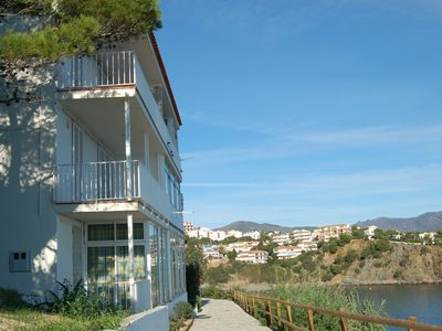 Photo for Apartment situated in 1st line of the sea in Fané de Baix (Llançà) at 300m from the bea