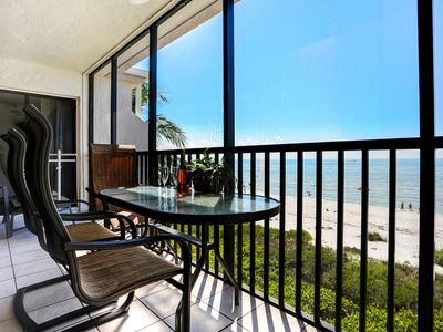Photo for Luxury Direct Beachfront 2BR+Den w/2 Free Bikes & Wifi Sundial K405