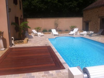 Photo for HEART OF BLACK PERIGORD HOUSE OF 2 TO 10 PEOPLE, AND HEATED POOL SALT