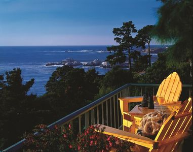 Our townhouse has a private balcony with an ocean view.