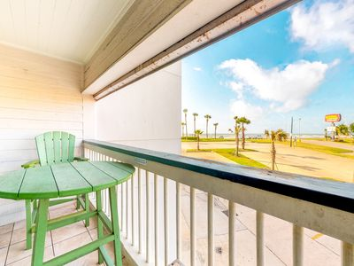 Photo for Gulf view condo w/shared pools, private balcony, walk to the beach!