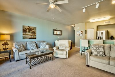 Very large living area with a open concept layout