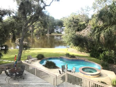 Photo for Spectacular Home on Lagoon - Pool/Spa - 3 Minute Walk to Beach