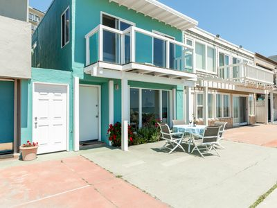 """Photo for New Listing! Beach-Front Home On The """"Island""""! Best Ocean Views!"""