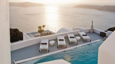 Photo for IT'S A REAL PLEASURE. ATALANTA Caldera Luxury Spa Villa Santorini 2br upto 5guests private pool and 400sqm spa!