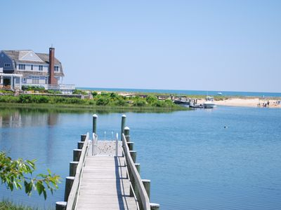 Photo for Popponesset Beach Ocean View Home with Dock