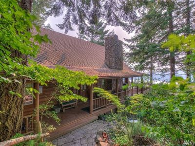Photo for Timber Lodge Log Home - Marine Views-Home Theater