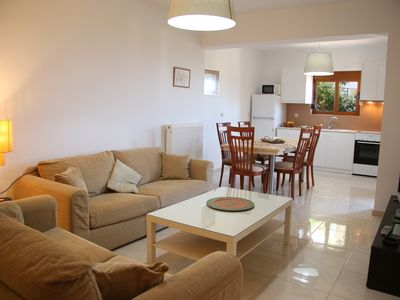 Photo for New spacious apartment with sea view, near the beach of Platanes and Rethymno