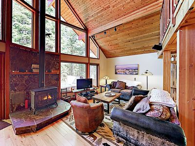 Living Area - Welcome to Truckee! This luxury cabin is professionally managed by TurnKey Vacation Rentals.