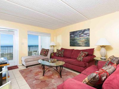 Photo for Seville 402 - Beachfront Condo w/ Stellar Ocean Views from Private Balcony, Pool & Spa