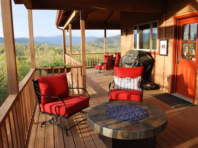 Photo for VIEWS! VIEWS! Large private home with 180 degree views of the Smoky Mountains!