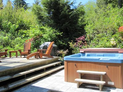 Photo for Cedar Shack Cabin by the Beach with Private Hot Tub, 3 min walk to Beach