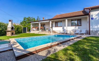 Photo for Villa with private pool, 3 bedrooms, 2 bathrooms, air conditioning, WiFi, children's playground, terrace and barbecue area