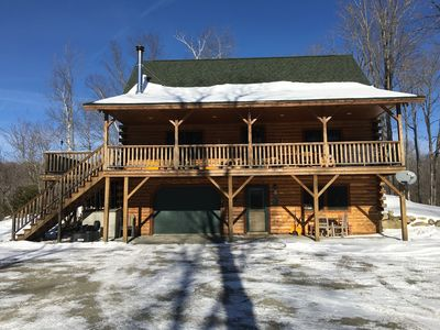 Photo for Beautiful secluded Log Home in the woods!